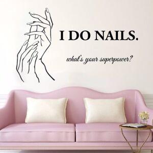 Nail Salon Window Decor Wall Sticker