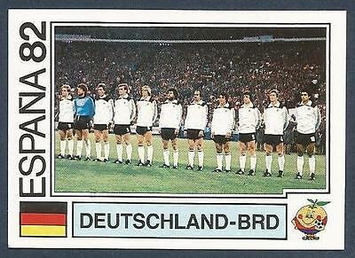 PANINI WORLD CUP STORY #152-ESPANA 82-DEUTSCHLAND-BRD-GERMANY TEAM PHOTO
