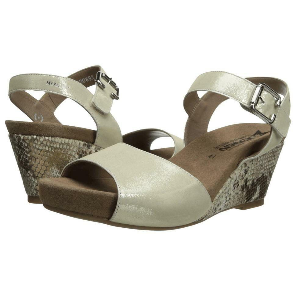 Mephisto Beauty gold Lizard Boa Comfort Wedge Sandal Womens Sizes 35-42 NEW