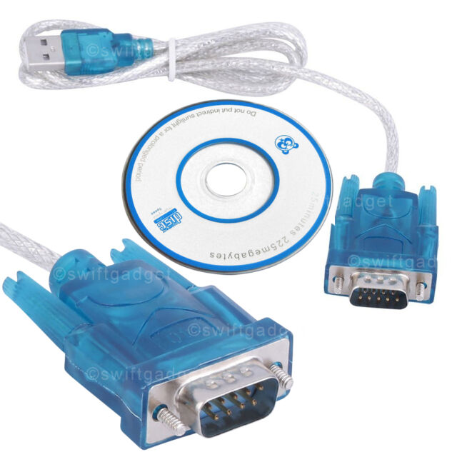 USB to RS232 Cable CH340 DB9 Male 9Pin Serial Port Adapter Converter Windows 7 8