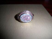 Sima K Pink Drusy Smokey Quartz Ring