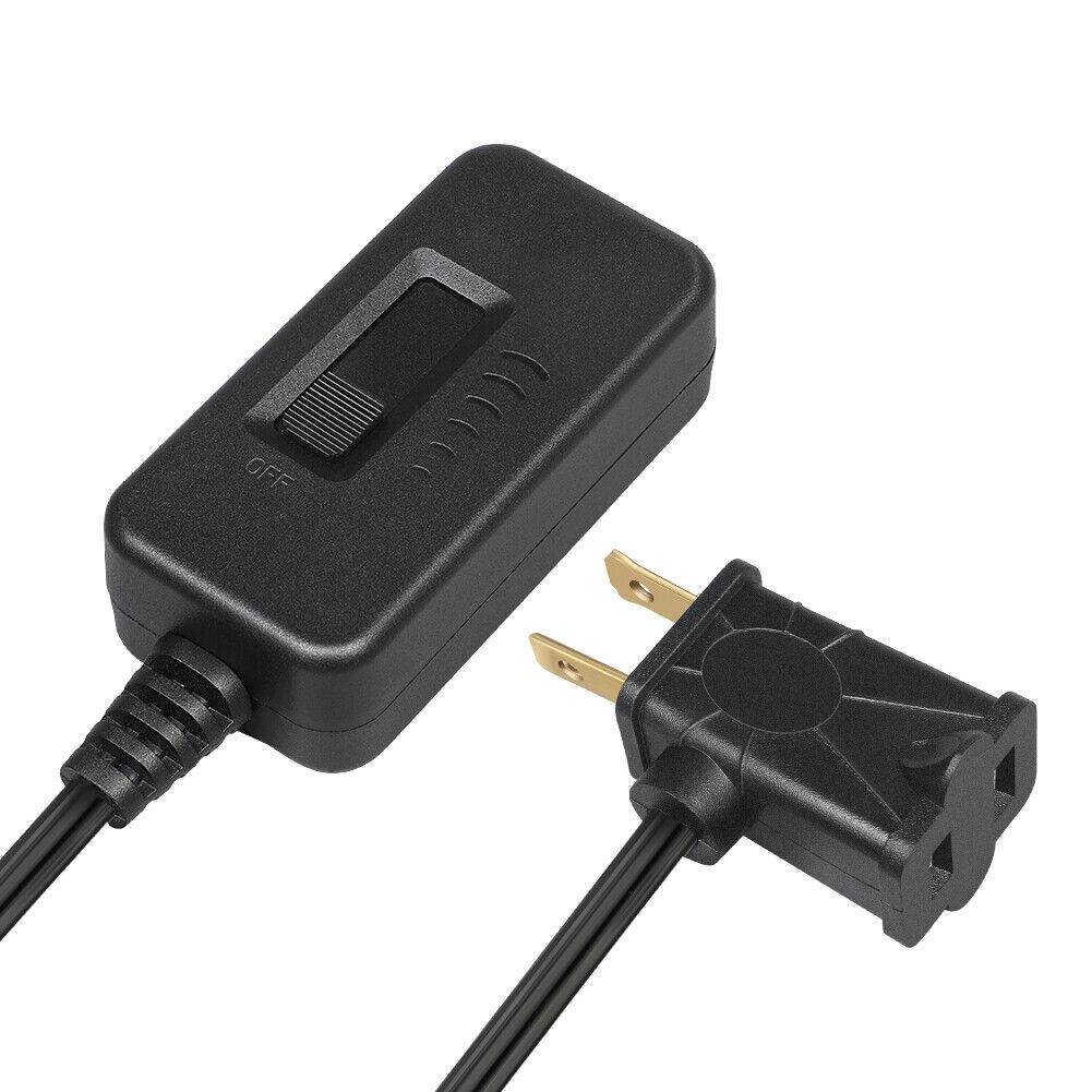 DEWENWILS Plug in Light Dimmer Switch For Dimmable LED Lights 6.6 ft Cord Black