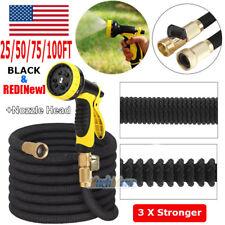3X Stronger Deluxe 25-100 FT Expandable Flexible Garden Water Hose+Spray Nozzle