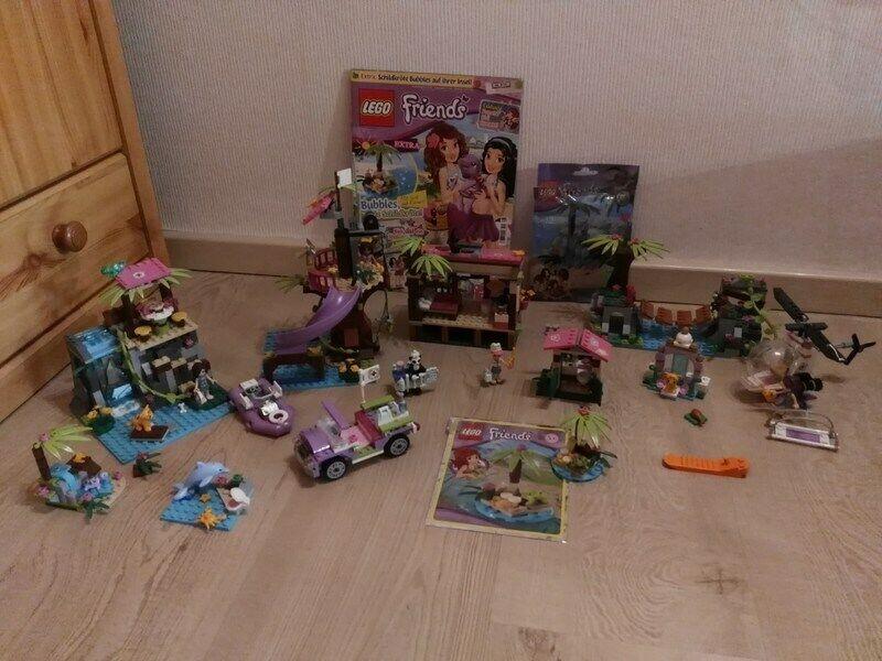XXL Lego Friends Dschungel Sets  41038, 41033, 41036, 41041 + weitere... + Heft