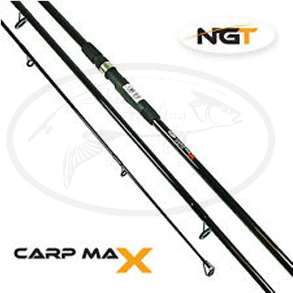 CARP Max Max Max Carpa Canna Da Pesca 12ft 3 PEZZI 2.75 LB testcurve NGT grossolana Tackle 936909