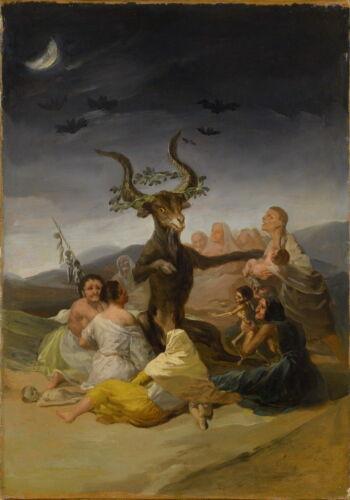 Francisco de Goya Witches Sabbath Giclee Canvas Print  Poster