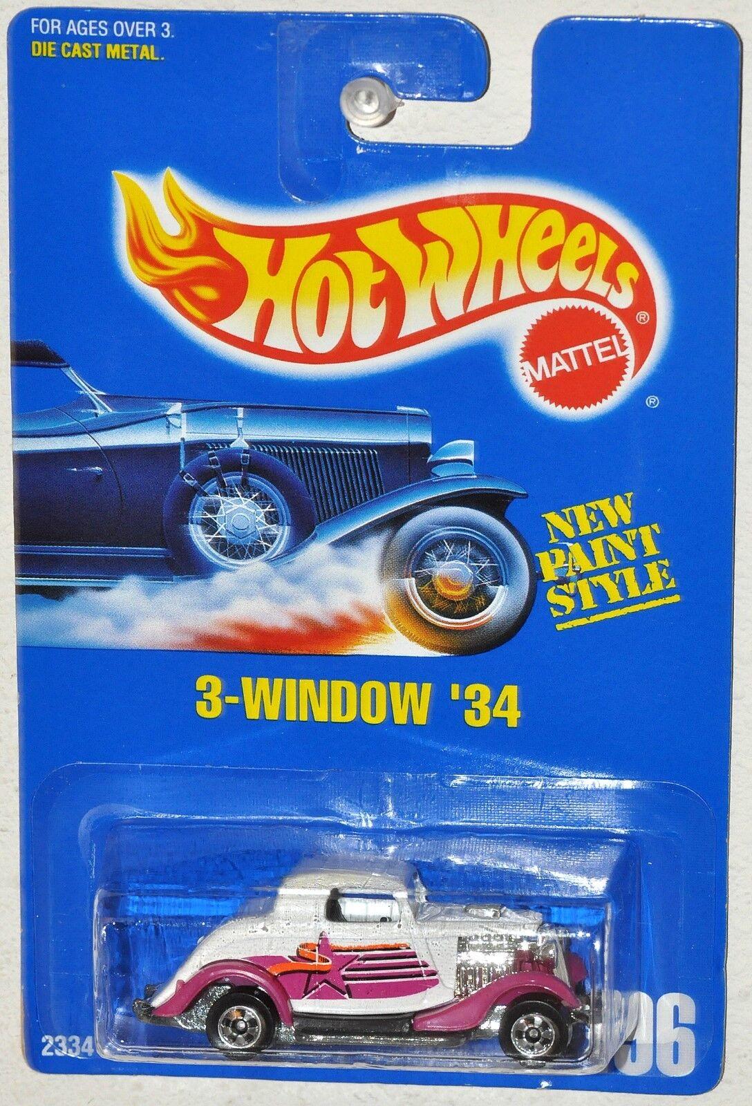 Hot Wheels 1991 Collector Window 34 bluee Card MOC B Wheels