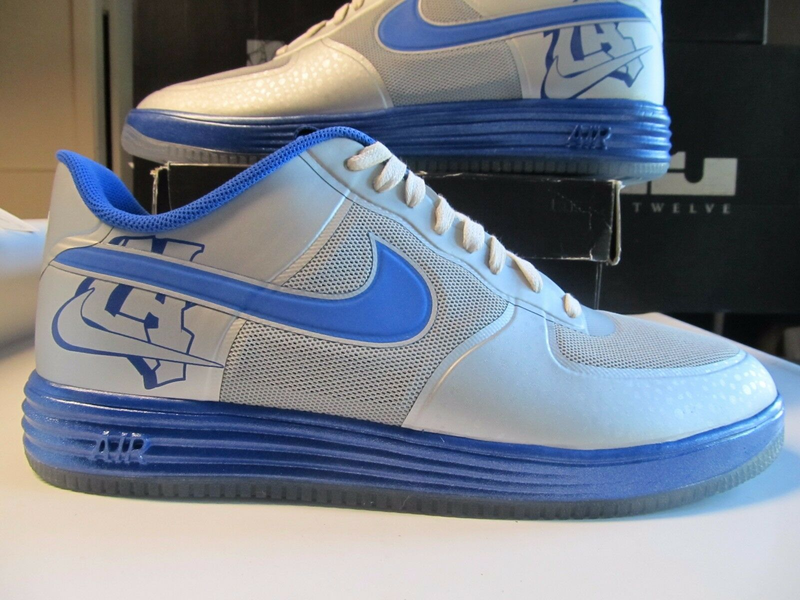 Nike Lunar Air Force 1 Fuse City la los Ángeles silver blue Real 14 577666 001