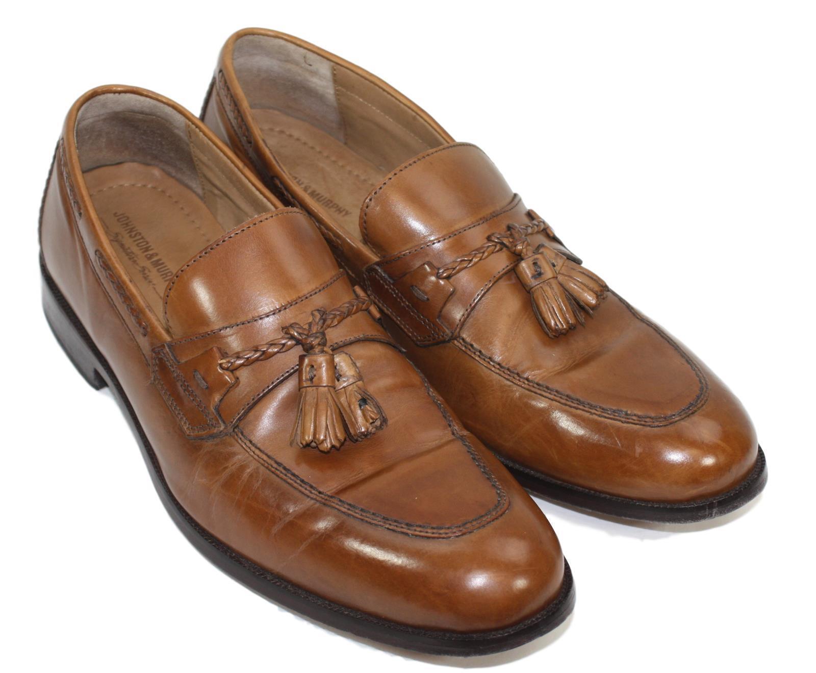 Johnston & Murphy Mens braun Slip On Loafers schuhe Größe 11M