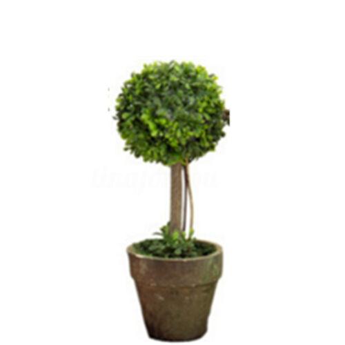 Artificial Plastic Trees In Pots Plants Potted Garden Yard Outdoor Indoor Decor