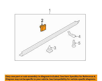 NEW GENUINE Rocker Panel Molding Clips OEM For Hyundai 877583D000 10