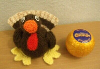 KNITTING PATTERN 12cm Christmas toy Christmas Turkey Chocolate orange cover