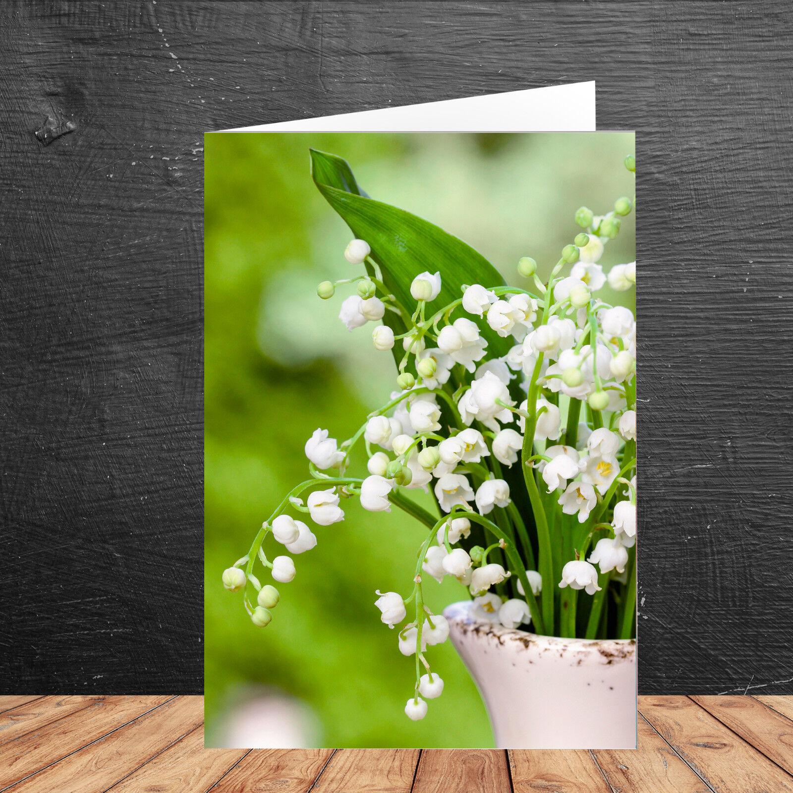 10   20   50   100 Blanko Grußkarte mit Umschlag - Grußkarte Frühling Blaumen   | Grüne, neue Technologie  | Feinen Qualität