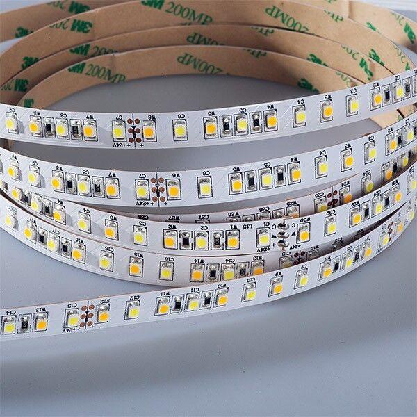 LED STRIP 3528 tunable bianca (2700-6500k) (H) 72w 500cm 500cm 500cm 24v ip20 82de81