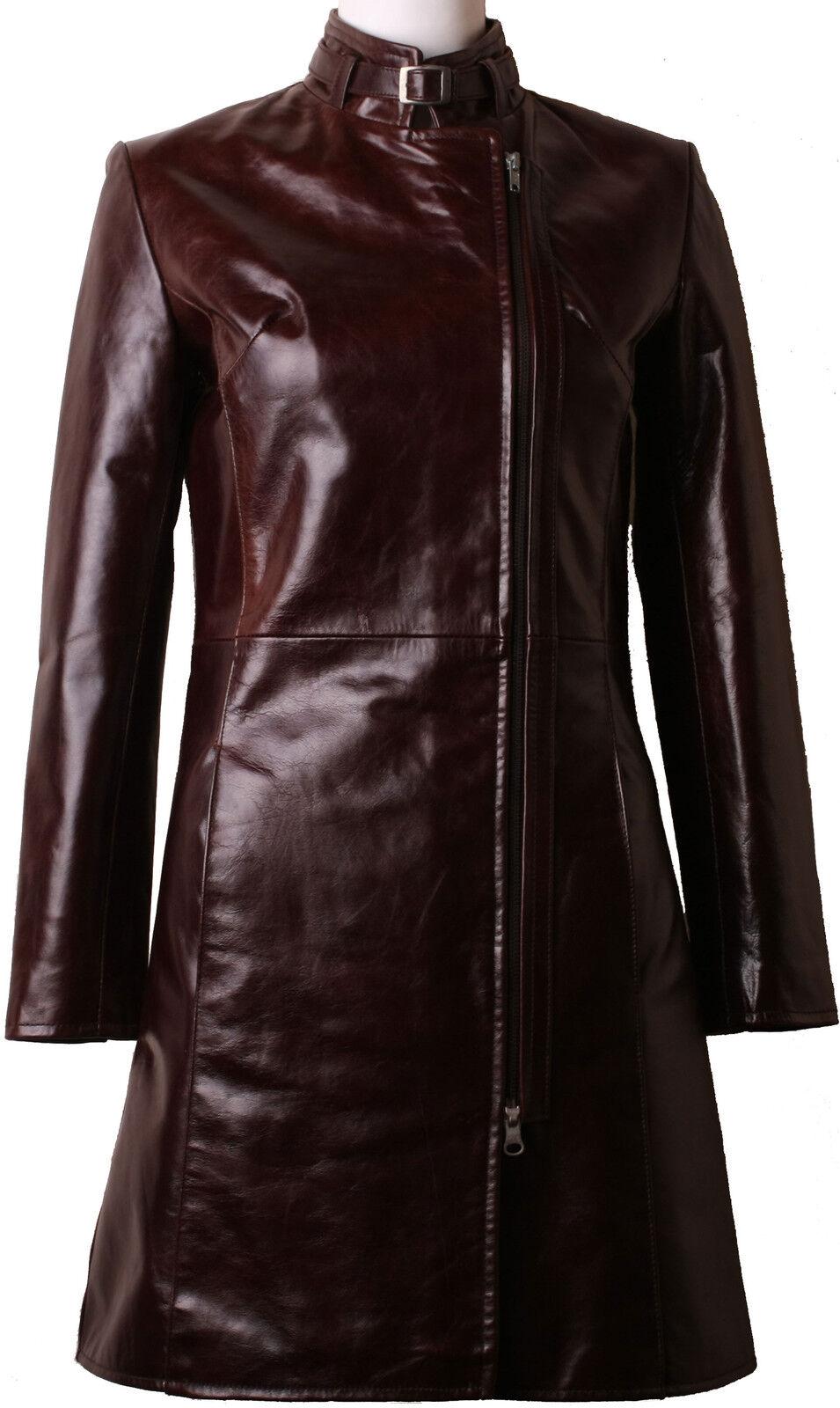 Para Mujer  marrón genuino cuero verdadero Abrigo De 3 Cuartos   todos los tamaños& 039;   5y  producto de calidad