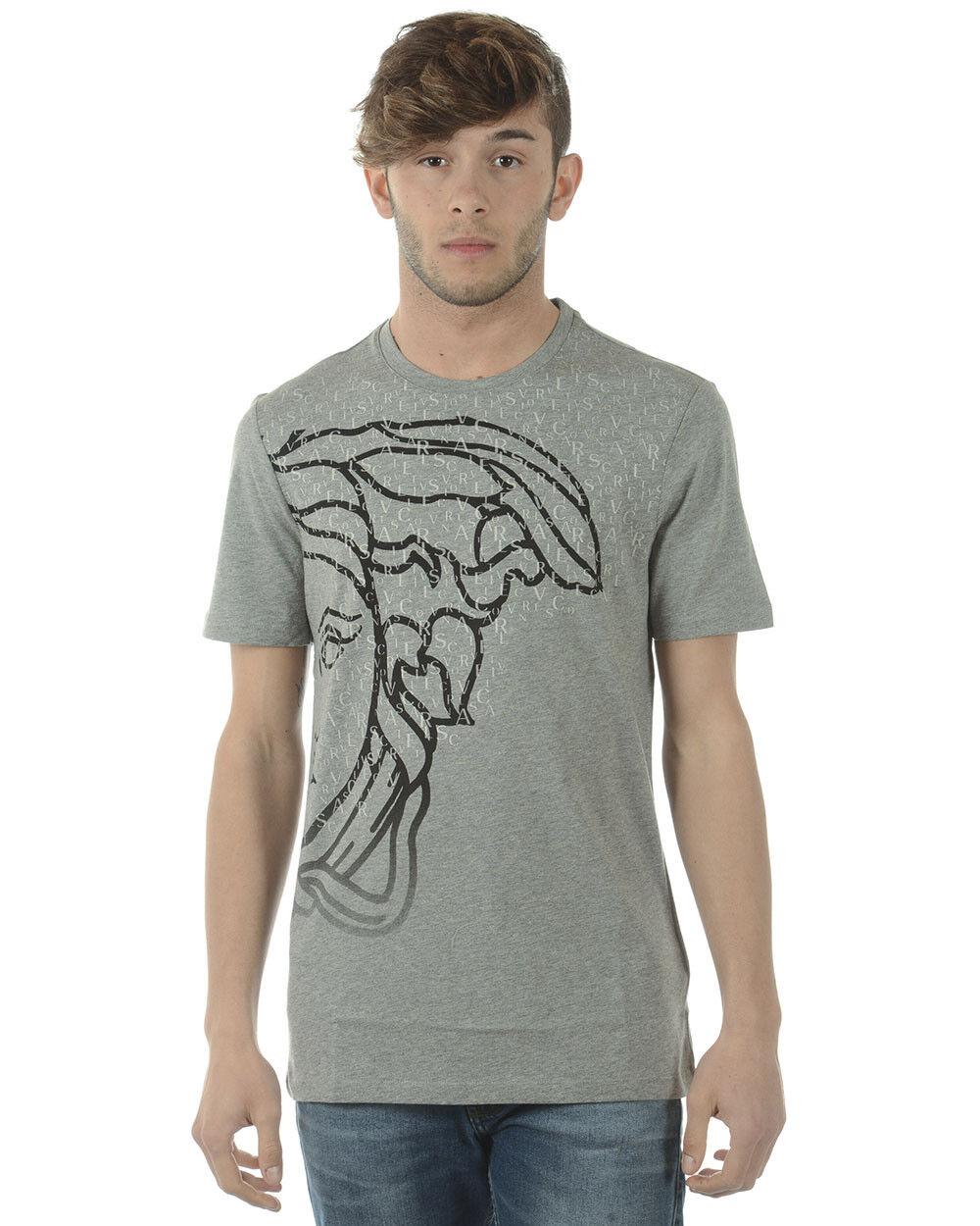 T shirt Versace Collection Sweatshirt Cotone  Herren Grigio V800683SVJ00353 V7652