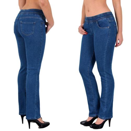 Donna Jeans Straight Fit Stretch Jeggings con elastico elastico j500