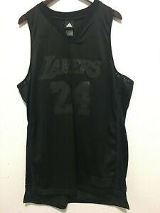 RARE LA Lakers Kobe Bryant Blackout Jersey Los Angeles All Black ...