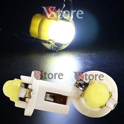 2 LED T5 B8.5D COB BIANCO SMD Lampade Lampadine Per Cruscotto Quadro Strumenti