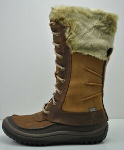 88e1334f9d411b Image is loading Womens-Merrell-Decora-Prelude-Waterproof-Brown-Leather- Boots-