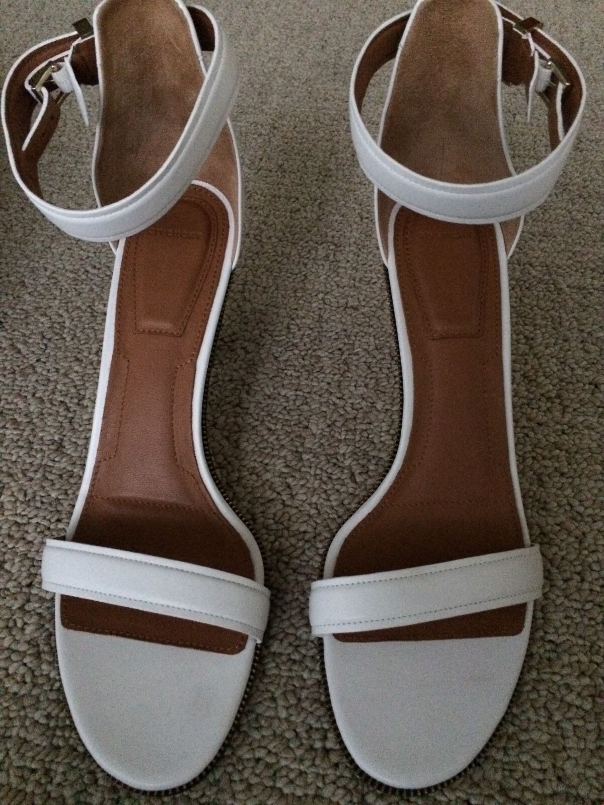 GIVENCHY Women's Retra White Leather Sandal Size IT40.5 US 10.5 NEW