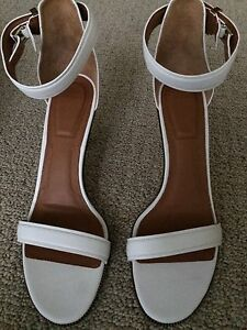 GIVENCHY-Women-039-s-Retra-White-Leather-Sandal-Size-IT40-5-US-10-5-NEW