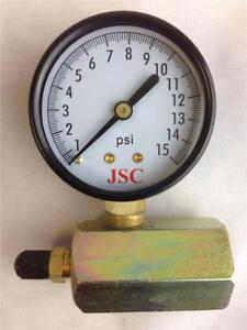 JSC-PlumBest-Jones-Stephens-Corp-Gas-Test-Gauge-Assembly-G64-015-15-PSI-New