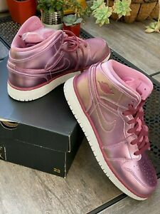 Nike-Air-Jordan-1-MID-SE-GS-Youth-Shoes-Pink-Rise-AV5174-640-SIZE-7-5Y-40-5