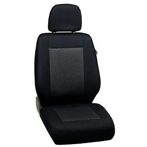 Schwarz-graue Dreiecke Sitzbezüge für VOLKSWAGEN POLO Autositzbezug VORNE