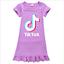 Kids-Girls-Tik-Tok-Nightdress-Short-Sleeve-Nightie-Skirt-Sleepwear-Nightwear-Top thumbnail 6