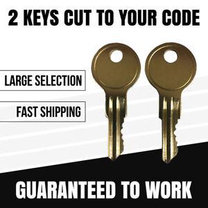 Hon file cabinet Lock Key Code Cut 301E to 350E Office Furniture Desk Keys