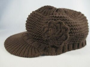 Charming Charlie Flower Women's Adult One Size Beanie Cap Hat Great Condition