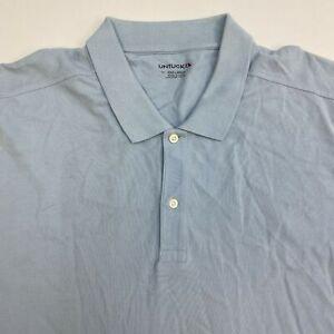 UNTUCKit-Polo-Shirt-Men-039-s-3XL-XXXL-Short-Sleeve-Blue-100-Pima-Cotton-Casual