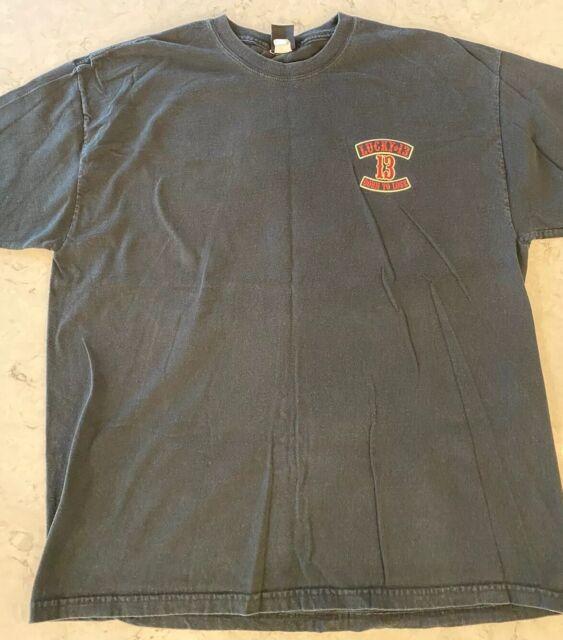 Lucky 13 Shirt Men/'s 3//4 Sleeve Baseball T Anti Social Club Skull Born to Lose