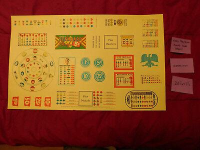 Vintage Slot Machine Award Cards