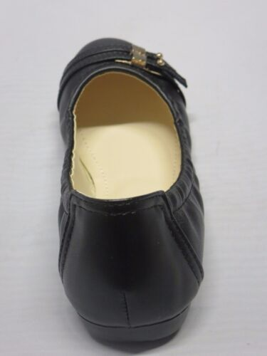 Girl Flats vicki05 Kid Size Flower Girl Dress Shoes Black White Aqua RUN SMALL