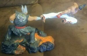 Details About Tekken 7 Collectors Edition Statue Kazuya Vs Heihachi
