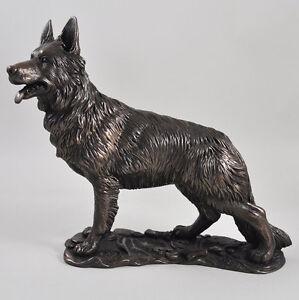 German Shepherd Dog Bronze Sculpture Cold Cast Resin Gift Home Decor ...