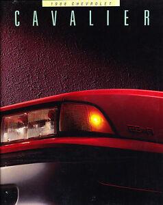 1988-Chevrolet-Cavalier-36-page-Original-Sales-Brochure-Chevy-Z24