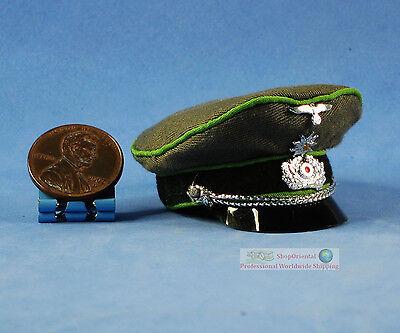1:6 FIGURE WW2 GERMAN General Officer Commander Visor Peaked Cap Hat WF_6F