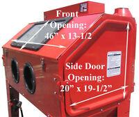Industrial Air Sand Blaster Blast Blasting Sandblaster Cabinet 110 Gallon