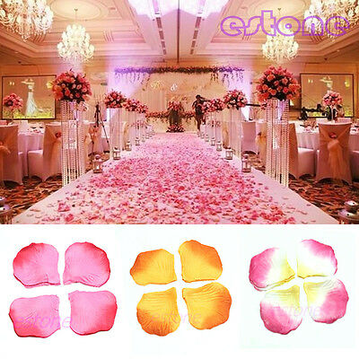 500PCS Rose Flower Petals Leaves Wedding Party Table Confetti Decoration