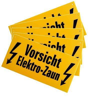 """5 x Warnschilder  """" Vorsicht  Elekro-Zaun """",Weidezaun"""
