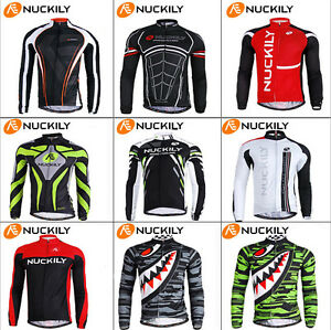 Men-039-s-Cycling-Jersey-Jackets-Sport-Clothing-Bike-Long-Sleeve-Bicycle-Jersey-Top