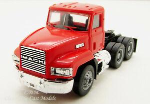 Mack 603 Day Cab rot kurz Tandem Achse HO Maßstab 1/87 Herpa/Promotex 15264