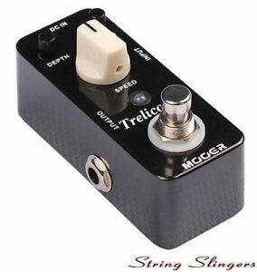 Mooer Micro Compact 'Trelicopter' Optical Tremolo Effects Pedal, MTR1
