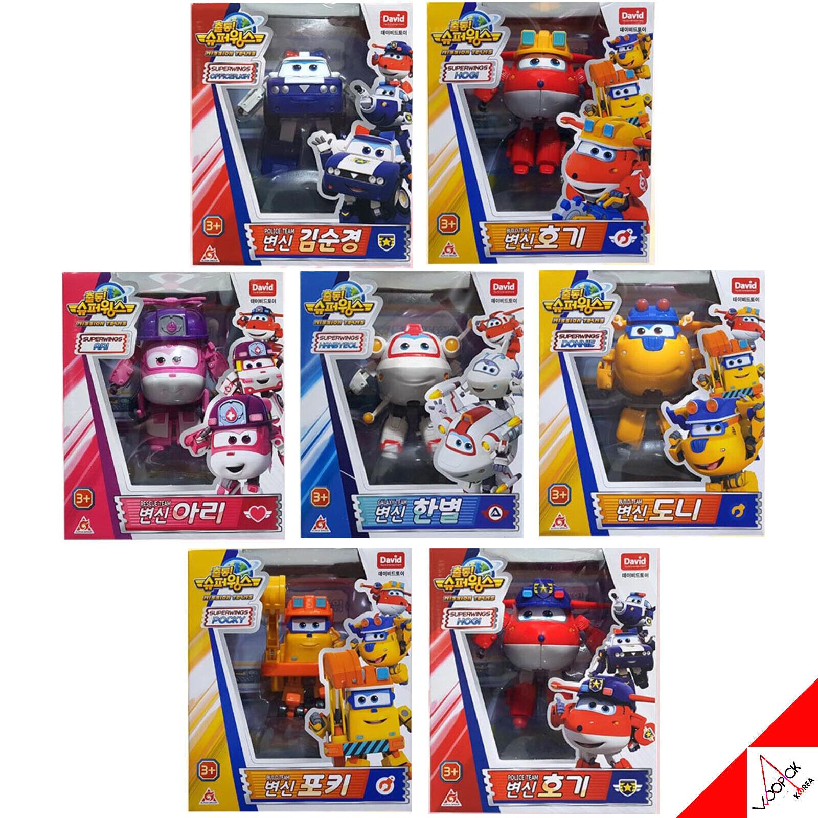 súper alas, Nueva temporada, Jet, Donnie, pino, mareo...EsES juguete robot transformador de 7 piezas