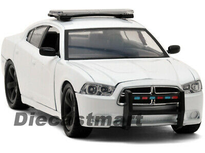 76934 Motormax 1//24 2011 Dodge Charger Police Car BLANK WHITE