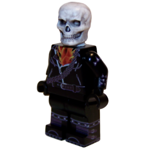 Marvel Universe Building Block Minifigure GHOST RIDER **NEW** Custom Printed