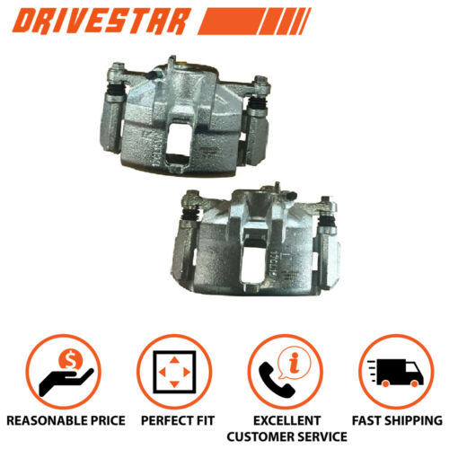 Set of 2 Front Disc Brake Calipers w//Bracket for Acura Honda CR-V Accord